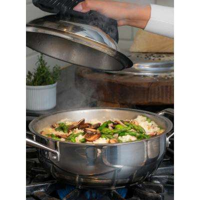 Limited Editions Rotonda 3 Piece Stainless Steel Risotto / Multi-Use Pan with Strainer/Grater Insert