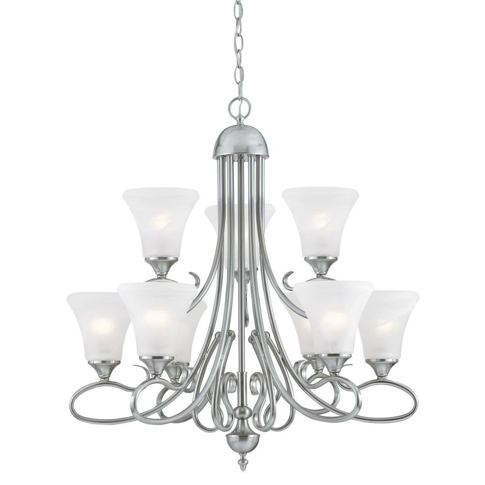 Thomas Lighting Elipse 9-Light Brushed Nickel Chandelier-DISCONTINUED