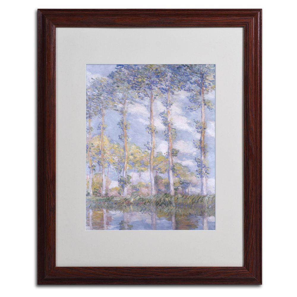 Trademark Fine Art 16 in. x 20 in. The Poplars Matted Brown Framed Wall Art