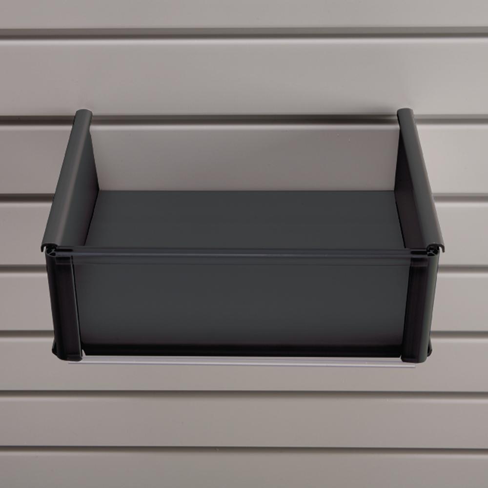 Plastic 8 in. x 10 in. Slat Wall Basket in Black