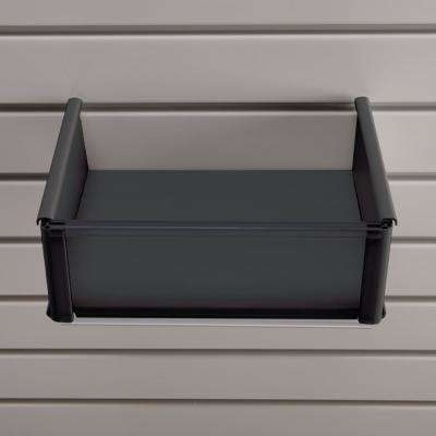 Plastic 8 in. x 10 in. Slat Wall Basket in Black