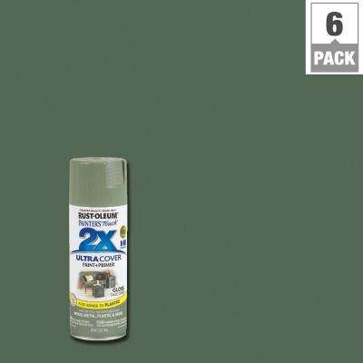 12 oz. Gloss Sage Green General Purpose Spray Paint (6-Pack)