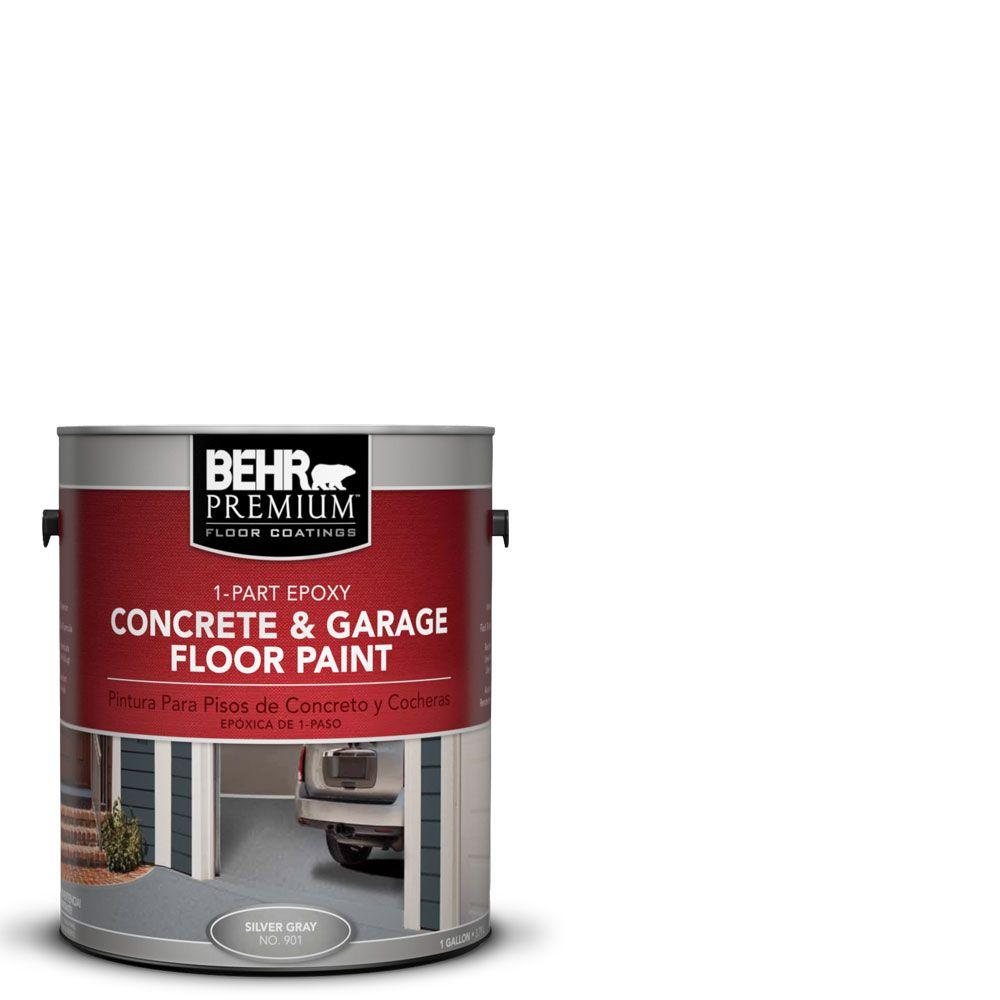 Behr premium 1 gal white 1 part epoxy concrete and garage for Best product to clean garage floor