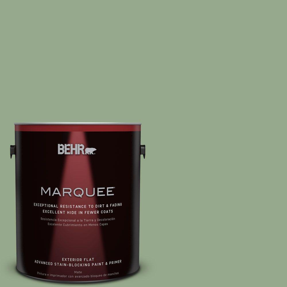 BEHR MARQUEE 1-gal. #PPU11-5 Pesto Green Flat Exterior Paint