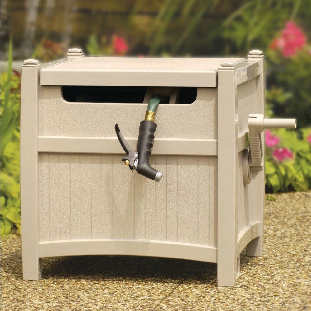Smart Trak Hose Hideaway Garden Storage Hide Conceal Water Hose Suncast 225 ft