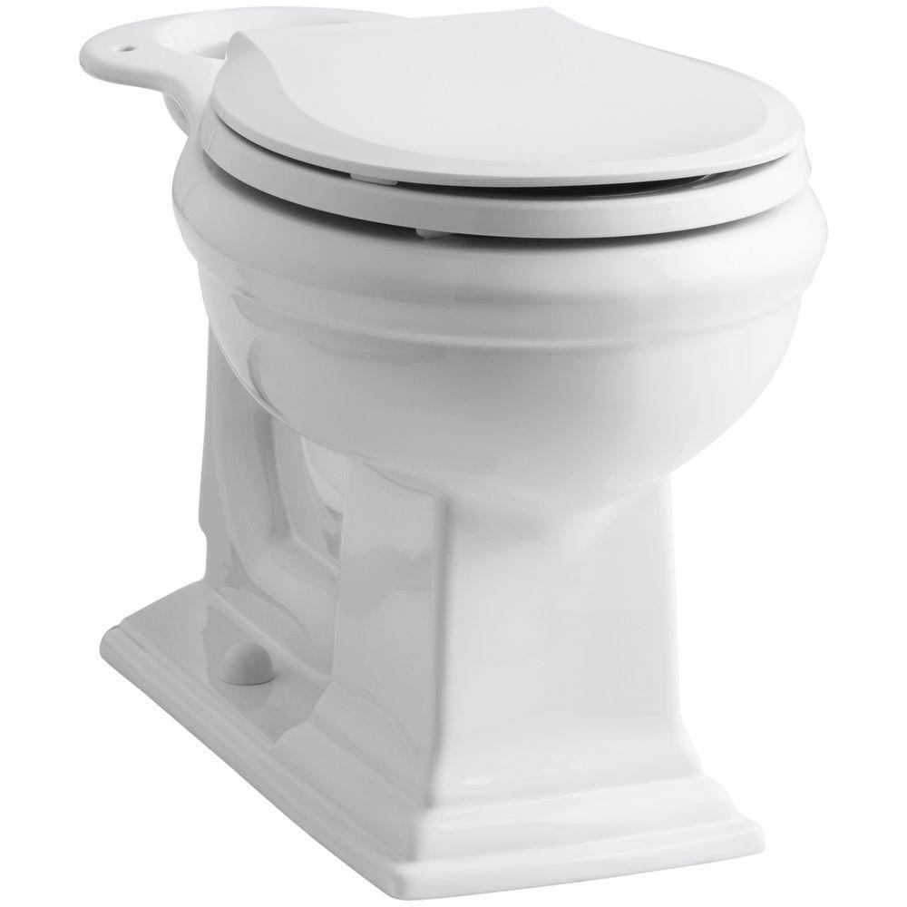 KOHLER Memoirs Comfort Height Round Front Toilet Bowl Only in White