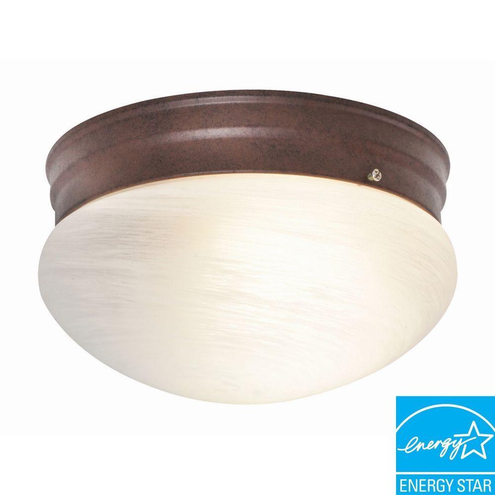 Design House Ceiling Mount Bronze Fluorescent Round Light-DISCONTINUED