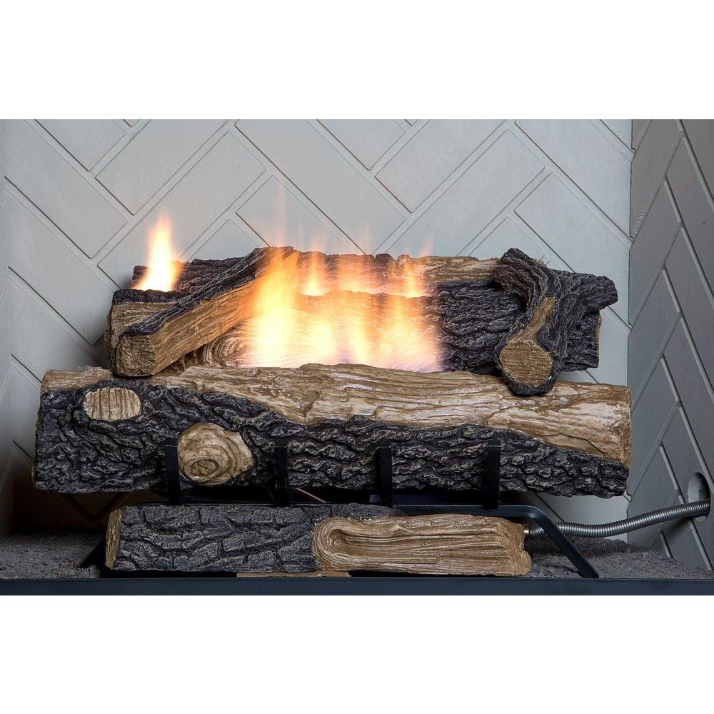 Natural Gas Fireplace Insert Fake Faux Logs Ventless