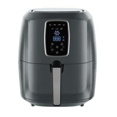 5.5 Qt. Gray Air Fryer with Digital LED Touch Display