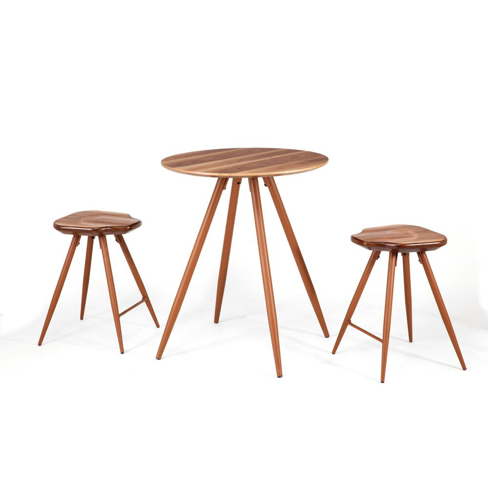 ACME Furniture Ainslee 3-Piece Oak (Brown) Bar Table Set