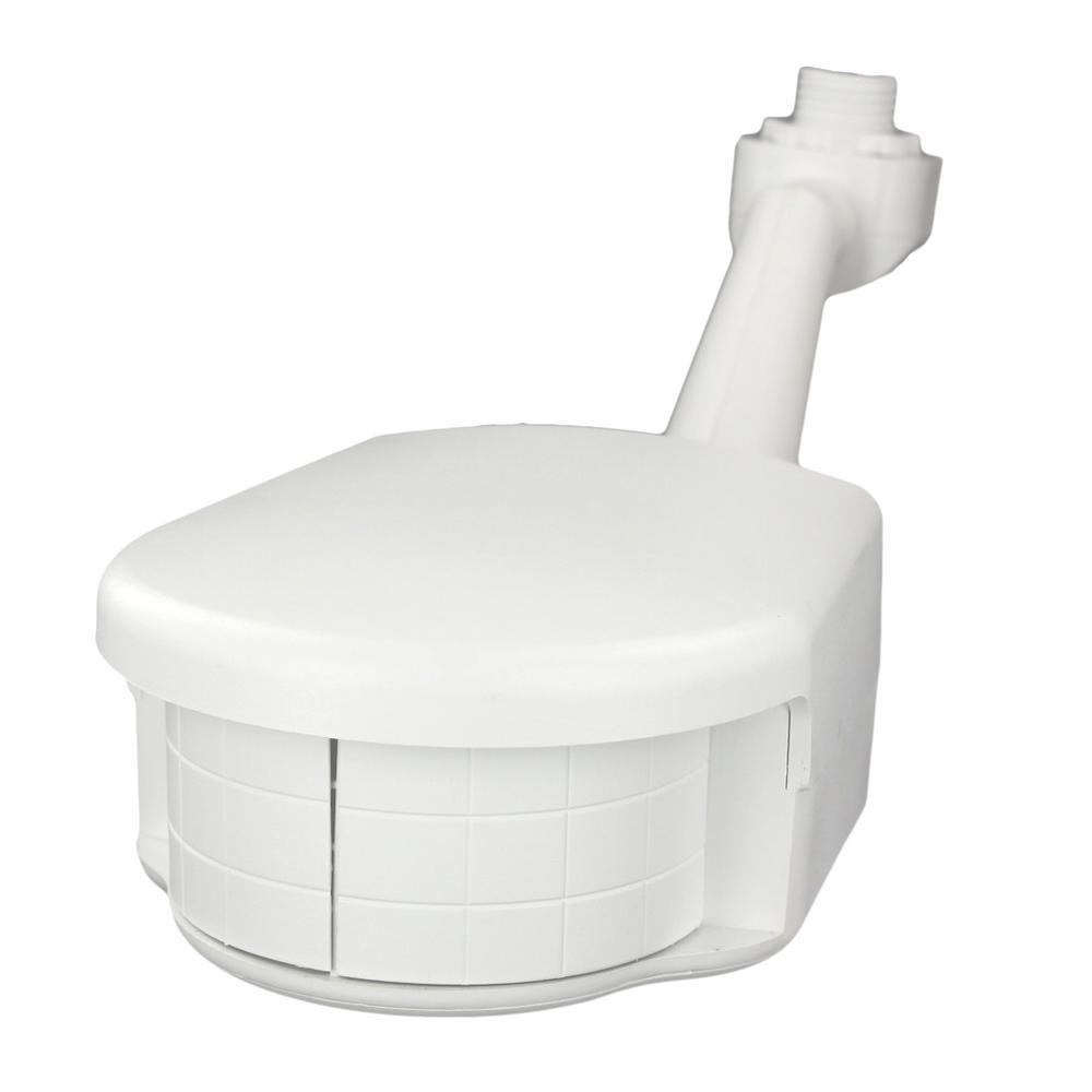 220-277-Volt Commercial Grade Passive Infrared 4000 sq. ft. 200-Degree Outdoor Motion Sensor, White