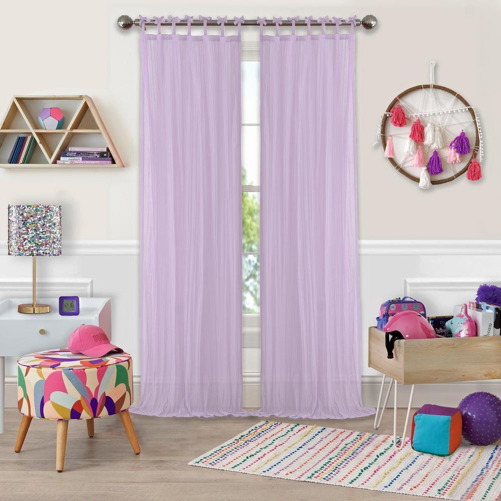 Greta Crushed Sheer Kids Window Curtain