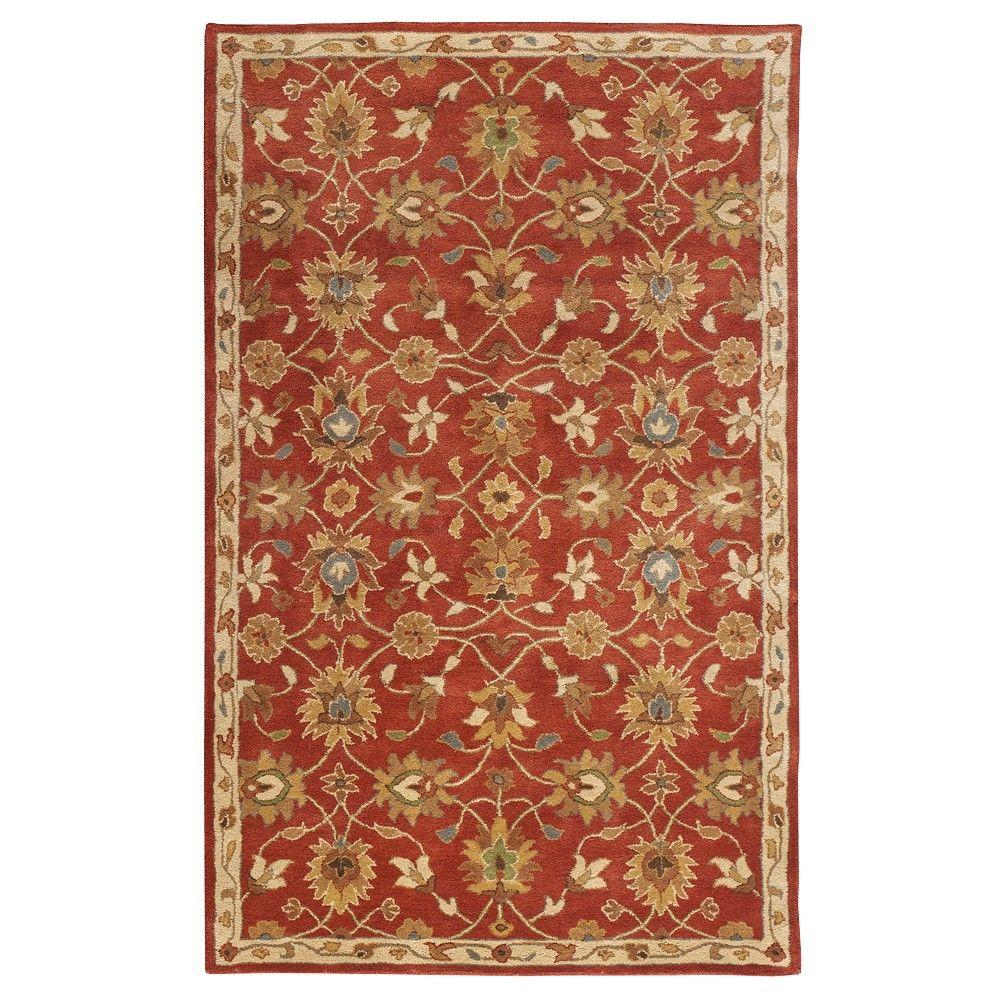 Home Decorators Collection Kent Red 8 Ft 3 In X 11 Ft Area Rug 0108240110 The Home Depot