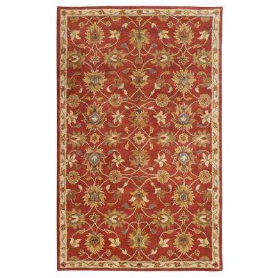 Kent Red 8 ft. x 11 ft. Area Rug