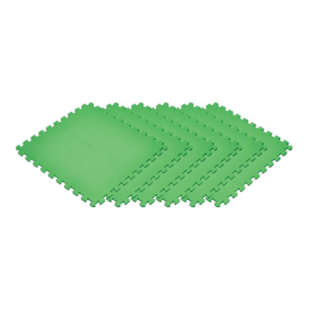 Green 24 in. x 24 in. x 0.47 in. Foam Interlocking