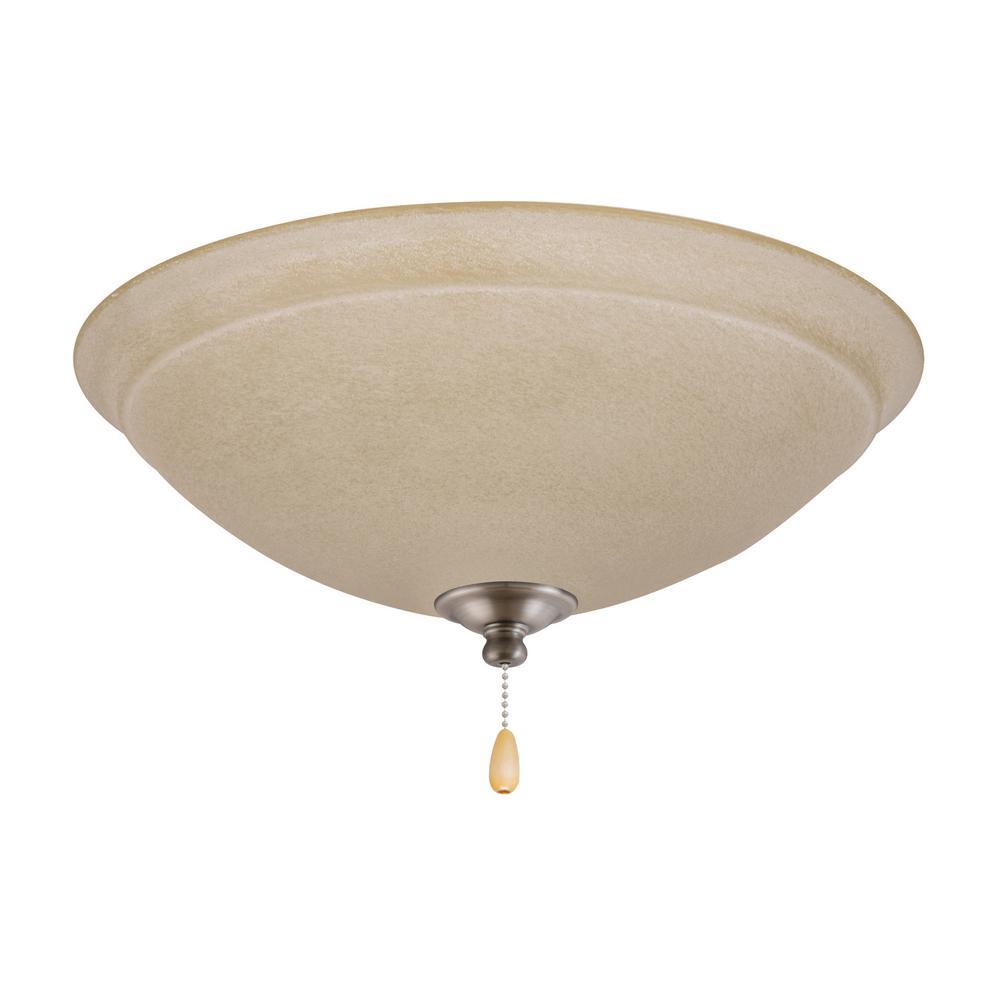 Ashton Amber Mist LED Array Antique Pewter Ceiling Fan Light Kit