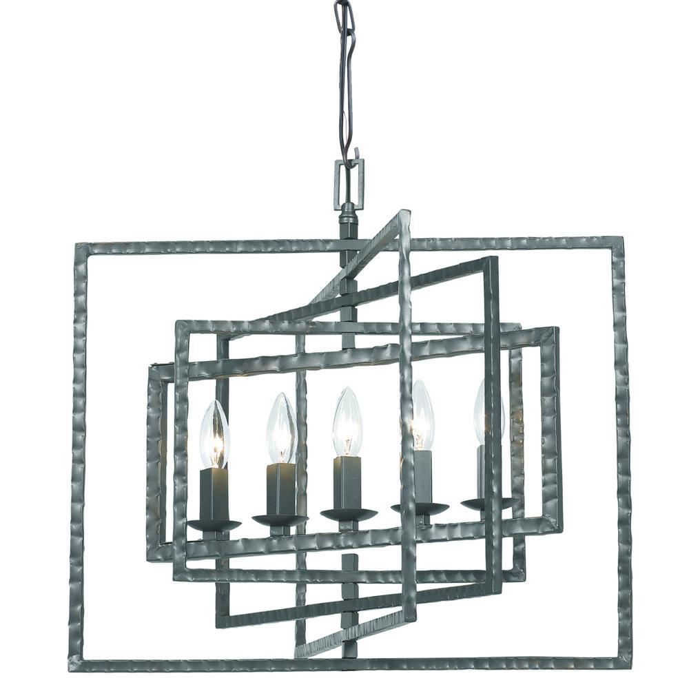 5-Light Gray Chandelier