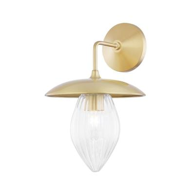 Lana 1-Light Aged and Brass Wall Sconce