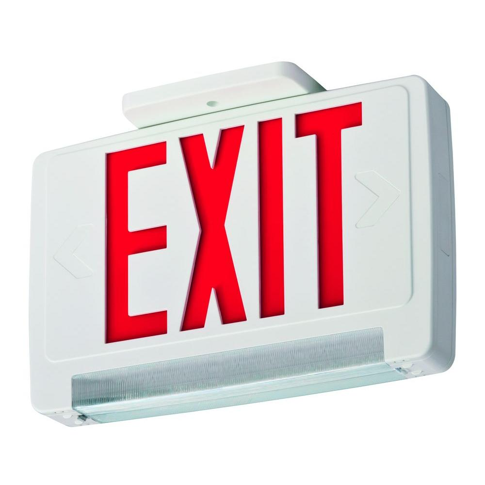 Awesome Lithonia Lighting Concealed Polycarbonate Led Optics Exit Sign Wiring 101 Capemaxxcnl