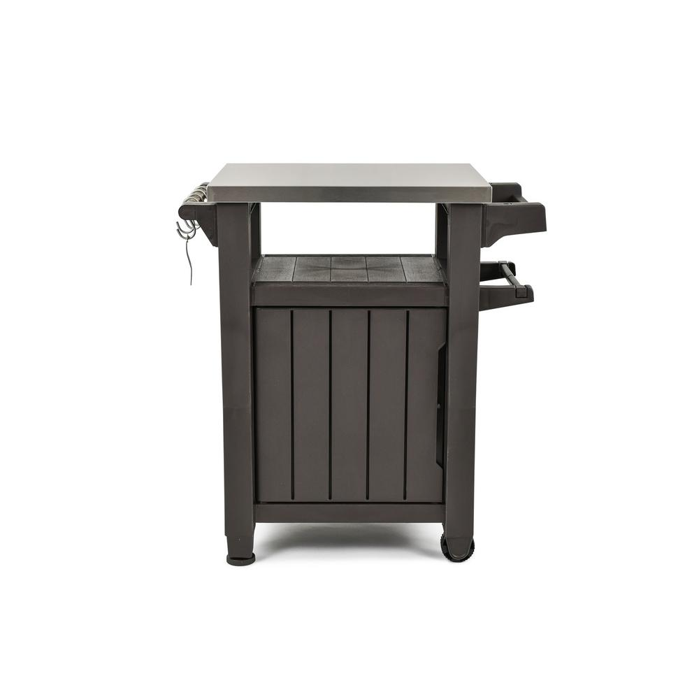 Unity 40 Gal. Grill Serving Prep Station Cart with Patio Storage