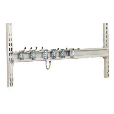 Storability 31 in. W Gray Epoxy Coated Steel Combination Rail Kit with 6 Heavy-Duty Assorted Rail Hooks
