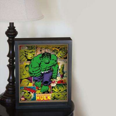 "9 in. x 11 in. ""Hulk - Panels"" Framed 3D Wall Art"