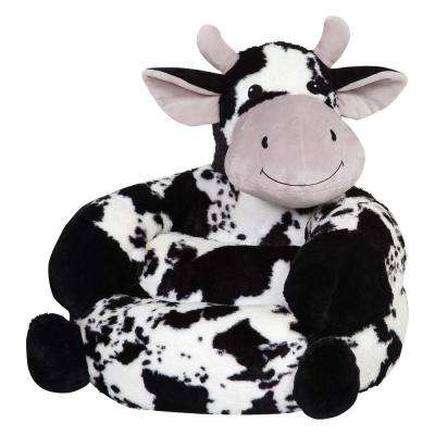 Multicolored Children's Plush Cow Character Chair