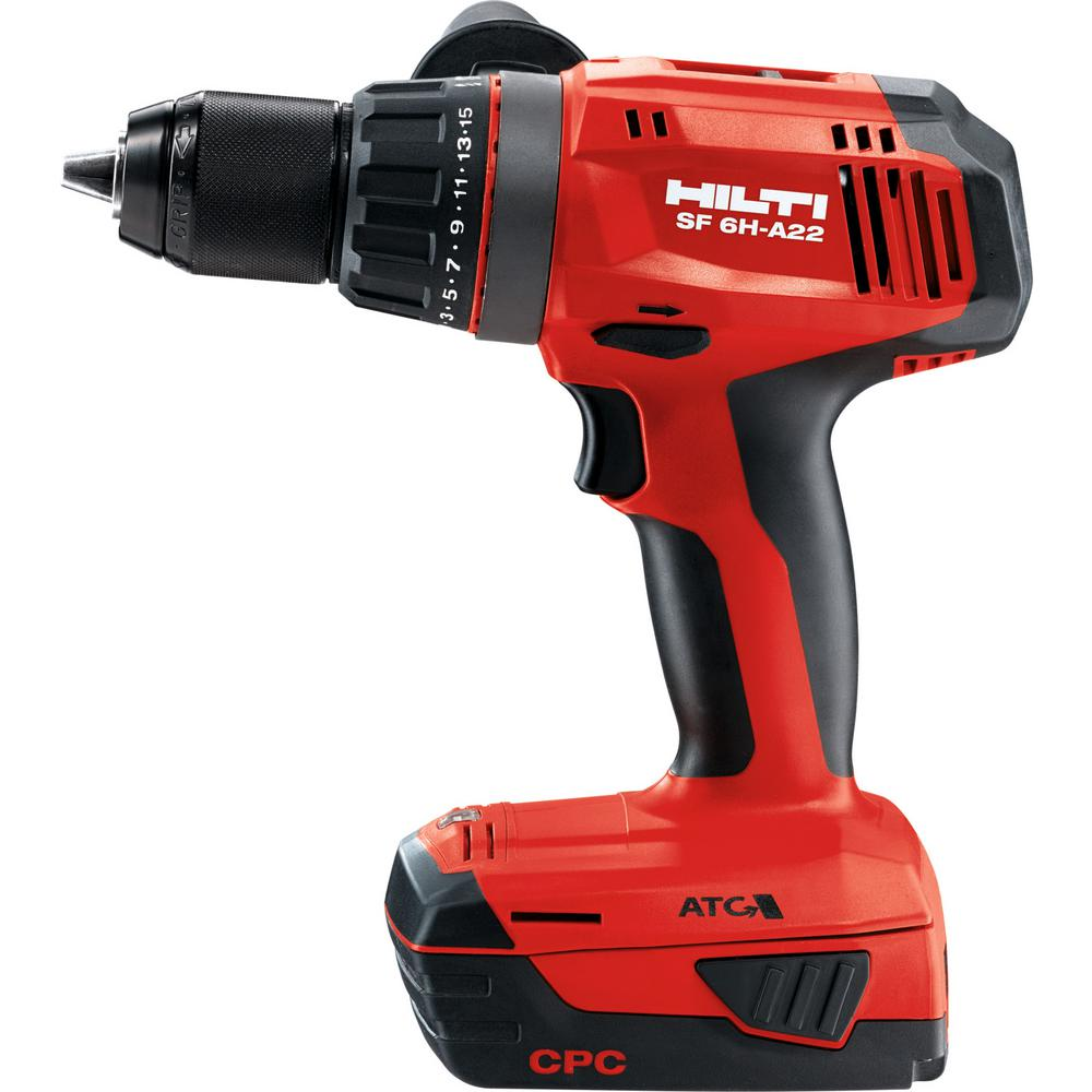 Hilti 22-Volt SF 6H Advanced Compact Lithium-Ion Cordless Keyless 1/2 in. Chuck Drill/Driver Kit w/Active Torque Control (ATC)