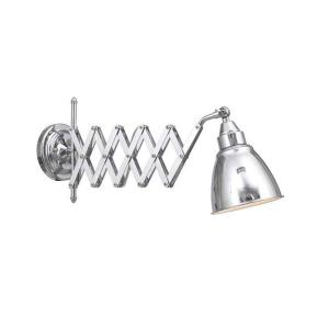 Home Decorators Collection 1-Light 9.5 inch Chrome Accordian Swing Arm Lamp by Home Decorators Collection