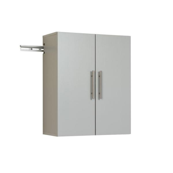 HangUps Collection 30 in. H x 24 in. W x 12 in. D Wall Mounted Cabinet Storage in Light Gray