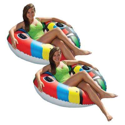Red 46 in. Pool Sports Tube 2-Pack