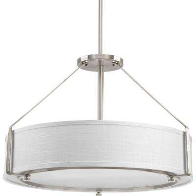 Ratio Collection 4-Light Brushed Nickel Pendant with Shade