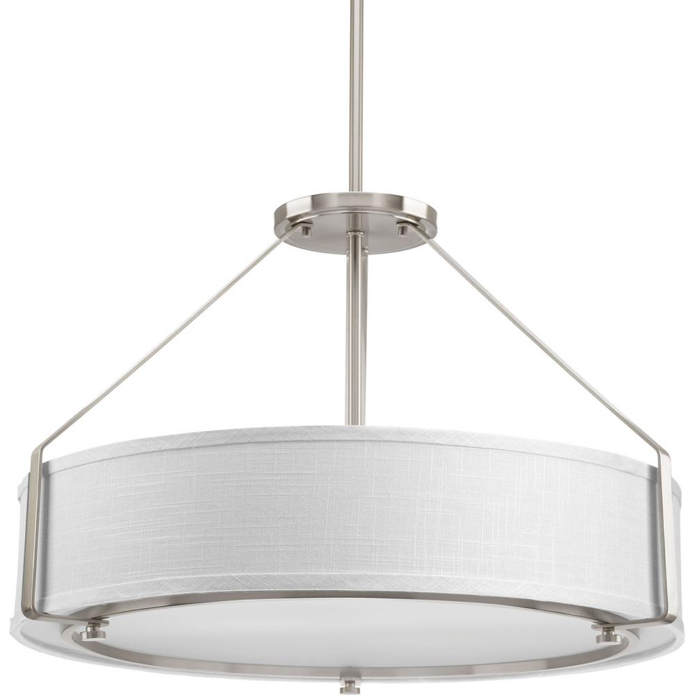 Ratio Collection 4-Light Brushed Nickel Pendant