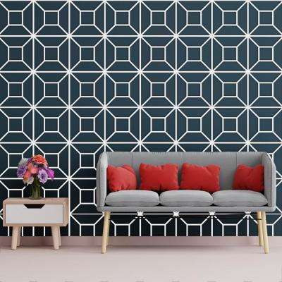 3/8 in. x 15-3/4 in. x 15-3/4 in. Medium Marion White Architectural Grade PVC Decorative Wall Panels