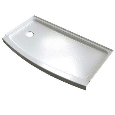 Lovely Ovation Curve 30 In. X 60 In. Single Threshold Left Hand Drain Shower Base