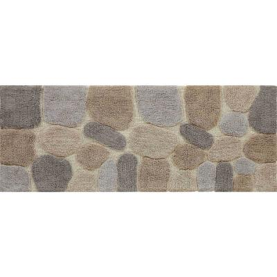 Pebbles Amethyst 24 in. x 60 in. Bath Runner
