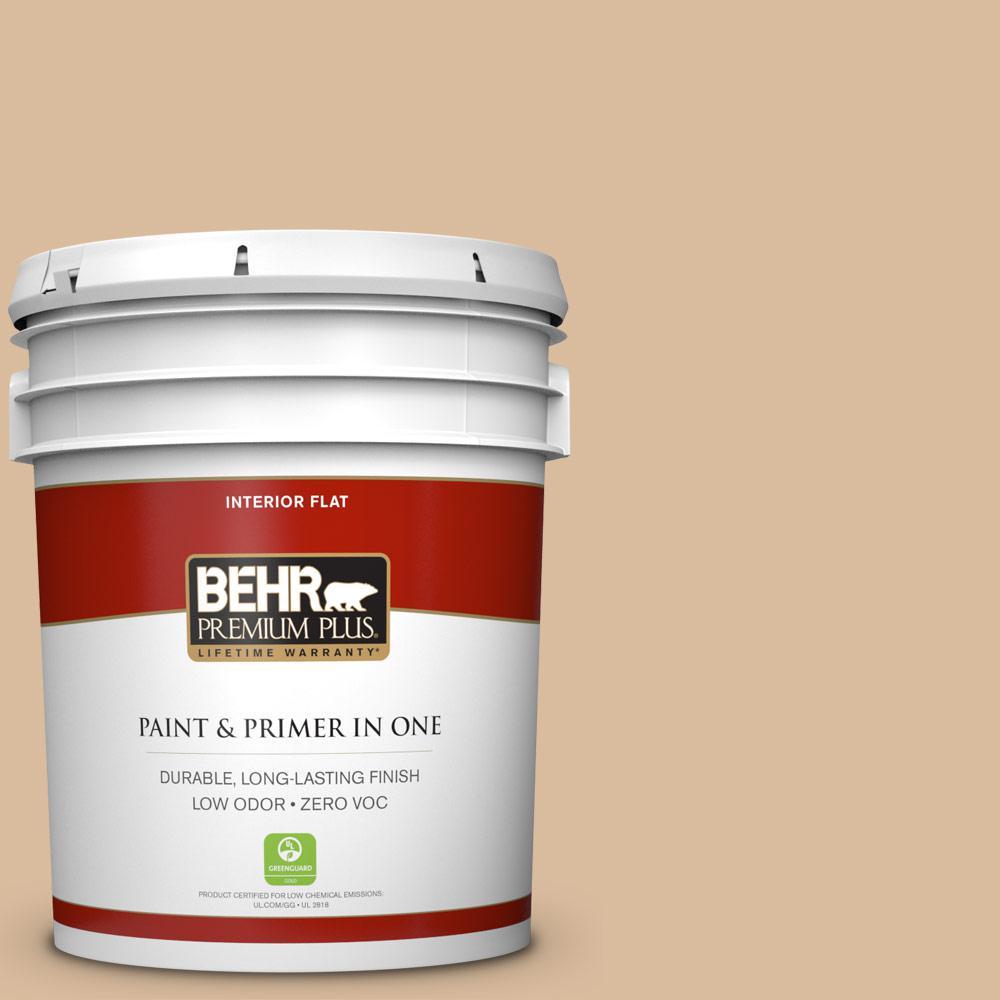 BEHR Premium Plus 5-gal. #BXC-40 Soft Wheat Flat Interior Paint
