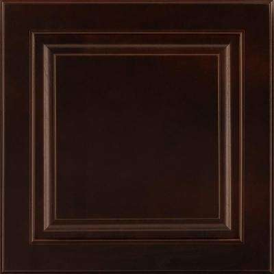 14-9/16x14-1/2 in. Cabinet Door Sample in Portola Cherry Java