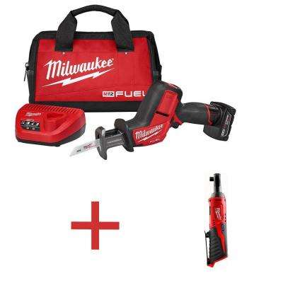 M12 FUEL Cordless HACKZALL Kit with Free M12 3/8 in. Ratchet (Tool-Only)