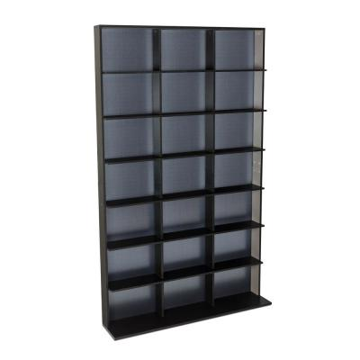 Elite Media Storage Cabinet Medium 609CD's/420DVD's/483 Blu-ray, Black