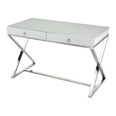 White Chrome Desk
