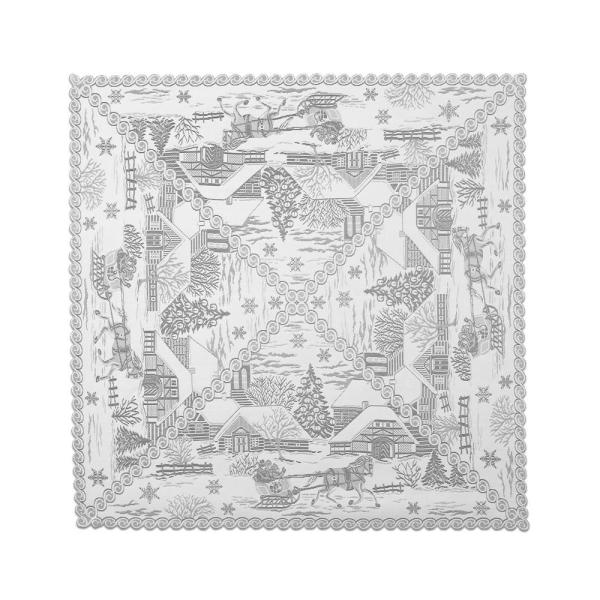 Heritage Lace Woodland 36-Inch by 36-Inch Table Topper White WL-3636W