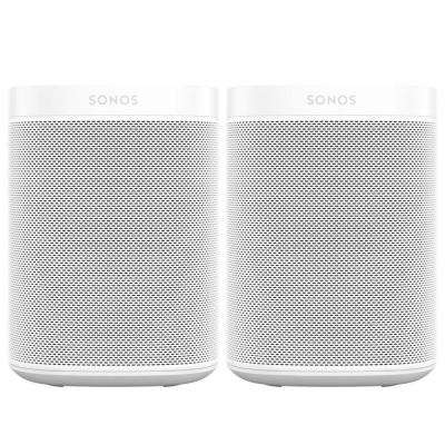 One (Gen 2) White Smart Speaker with Google Assistant (2-Pack)