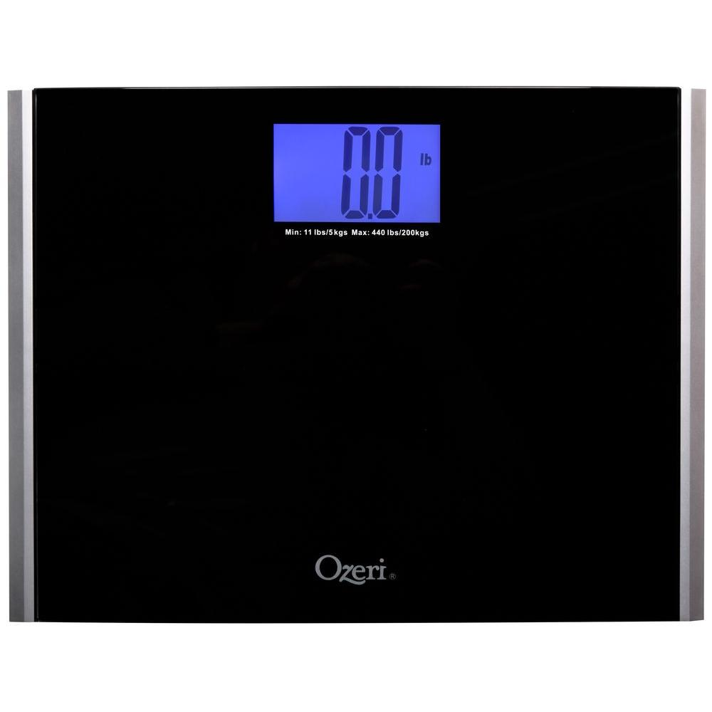 Ozeri Precision Pro Ii Digital Bathroom Scale Tempered Gl Platform With Stepon Activation
