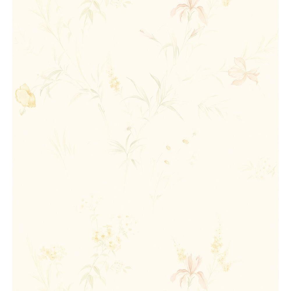 Kitchen and Bath Resource II Neutral Lilac Wallpaper Sample