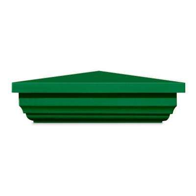 5 in. x 5 in. Vinyl Anaheim Green New England Pyramid Post Cap