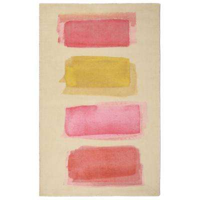 Lens Flare Modern Geometric Pink 7 ft. 6 in. x 9 ft. 6 in. Area Rug