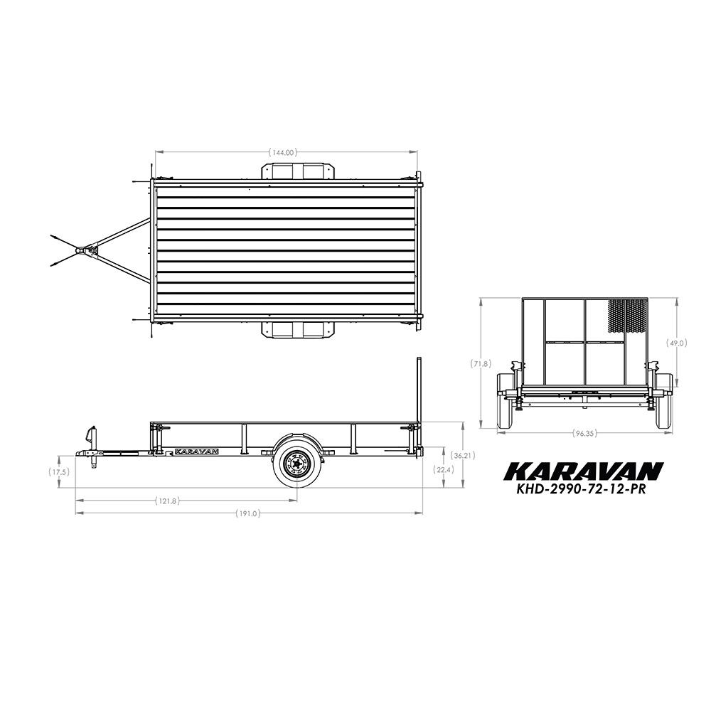 Karavan 2029 lb. Payload Capacity Trailer on triton snowmobile trailer wiring diagram, karavan snowmobile trailer tires, karavan snowmobile trailer parts, r&r snowmobile trailer wiring diagram, featherlite snowmobile trailer wiring diagram,