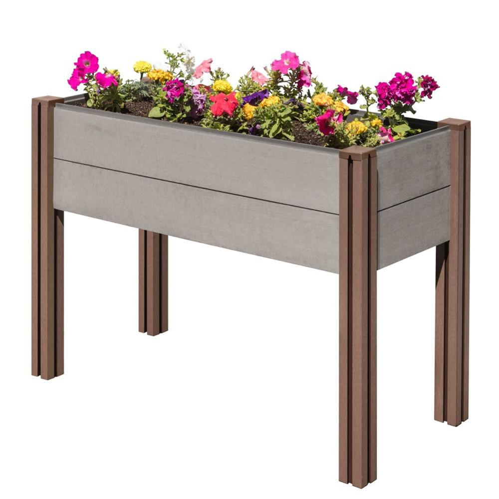 Stratco Composite Wood Plastic Elevated Raised Garden Bed