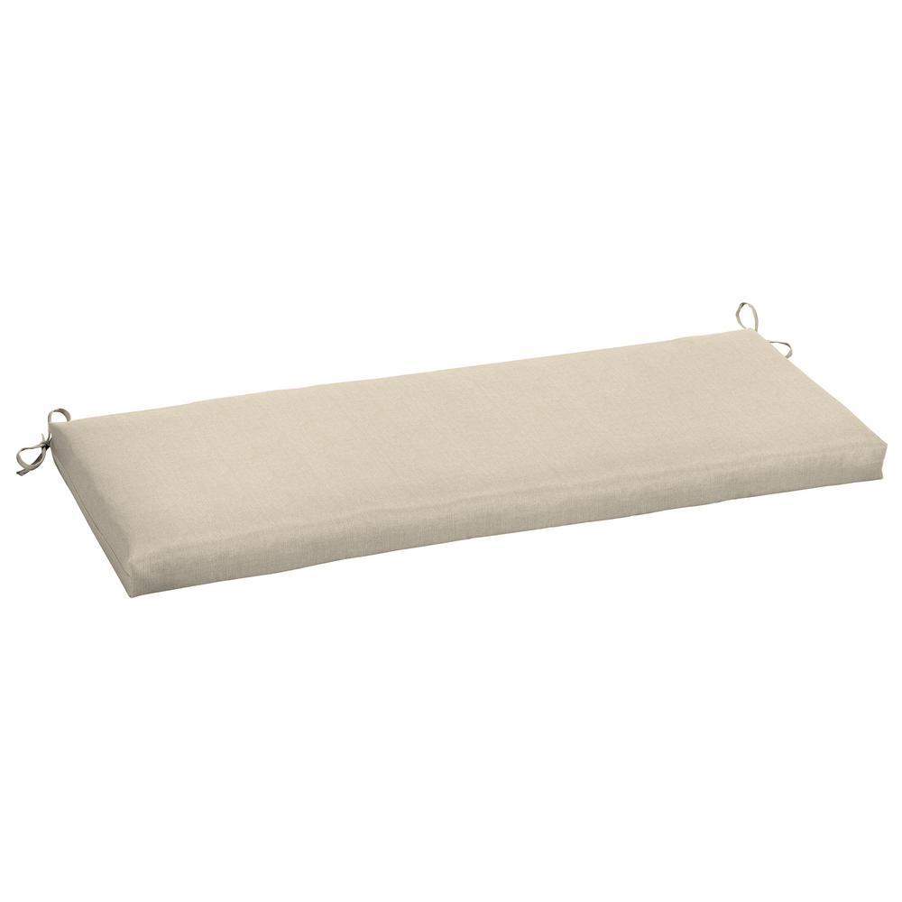 48 x 18 Sunbrella Canvas Flax Outdoor Bench Cushion